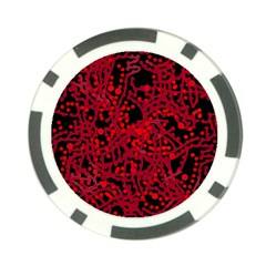 Red emotion Poker Chip Card Guards