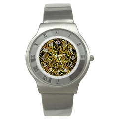 Yellow emotions Stainless Steel Watch