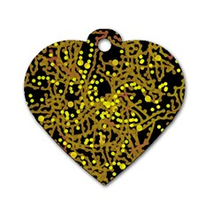 Yellow emotions Dog Tag Heart (Two Sides)