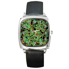 Green emotions Square Metal Watch