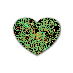 Green emotions Heart Coaster (4 pack)