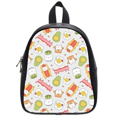 Funny Cat Food Succulent Pattern  School Bags (Small)