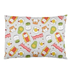 Funny Cat Food Succulent Pattern  Pillow Case (Two Sides)