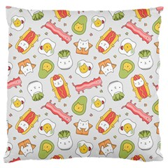 Funny Cat Food Succulent Pattern  Standard Flano Cushion Case (One Side)