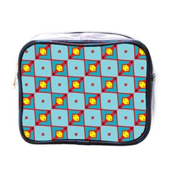 Shapes In Squares Pattern                                                                                                            mini Toiletries Bag (one Side)