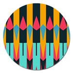 Shapes and stripes                                                                                                             Magnet 5  (Round) Front