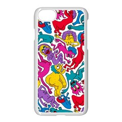 Animation Animated Cartoon Pattern Apple Iphone 7 Seamless Case (white)
