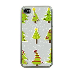 Christmas Elements Stickers Apple Iphone 4 Case (clear)