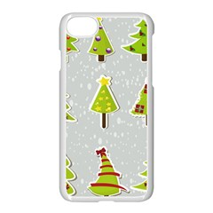 Christmas Elements Stickers Apple Iphone 7 Seamless Case (white)