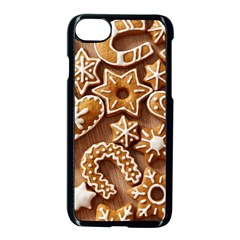 Christmas Cookies Bread Apple iPhone 7 Seamless Case (Black)