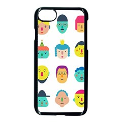 Face People Man Girl Male Female Young Old Kit Apple Iphone 7 Seamless Case (black)