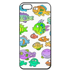 Fishes Col Fishing Fish Apple iPhone 5 Seamless Case (Black)