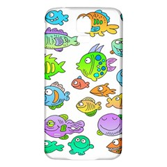 Fishes Col Fishing Fish Samsung Galaxy S5 Back Case (White)