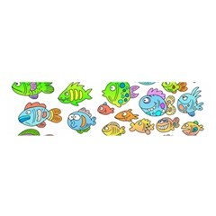 Fishes Col Fishing Fish Satin Scarf (Oblong)