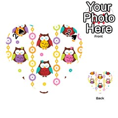 Owl Playing Cards 54 (heart)