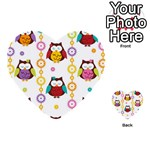 Owl Multi-purpose Cards (Heart)  Front 2