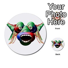 Futuristic Funny Monster Character Face Multi Purpose Cards (round)