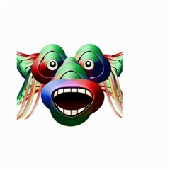 Futuristic Funny Monster Character Face Small Garden Flag (two Sides)
