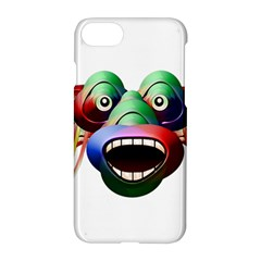 Futuristic Funny Monster Character Face Apple Iphone 7 Hardshell Case