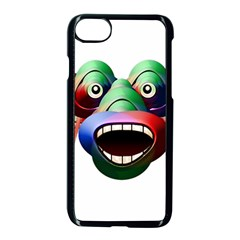 Futuristic Funny Monster Character Face Apple Iphone 7 Seamless Case (black)