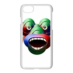Futuristic Funny Monster Character Face Apple Iphone 7 Seamless Case (white)