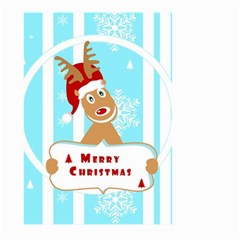 Santa Claus Reindeer Christmas Large Garden Flag (two Sides)