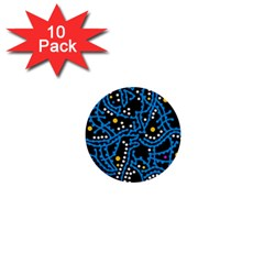 Blue fantasy 1  Mini Buttons (10 pack)