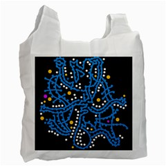 Blue fantasy Recycle Bag (One Side)