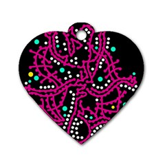 Pink fantasy Dog Tag Heart (Two Sides)