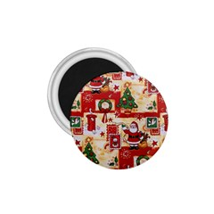 Santa Clause Mail Bird Snow 1.75  Magnets