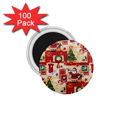 Santa Clause Mail Bird Snow 1.75  Magnets (100 pack)