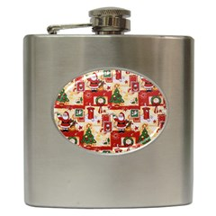 Santa Clause Mail Bird Snow Hip Flask (6 oz)