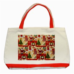 Santa Clause Mail Bird Snow Classic Tote Bag (Red)