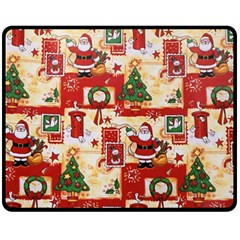 Santa Clause Mail Bird Snow Fleece Blanket (Medium)
