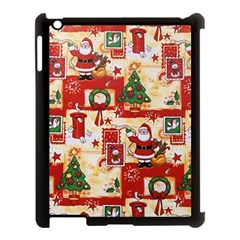 Santa Clause Mail Bird Snow Apple iPad 3/4 Case (Black)