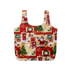 Santa Clause Mail Bird Snow Full Print Recycle Bags (S)