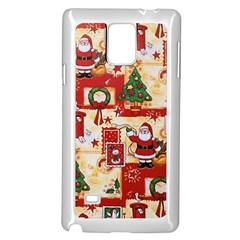 Santa Clause Mail Bird Snow Samsung Galaxy Note 4 Case (White)