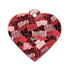 Tals Stupid Dog Tag Heart (two Sides)