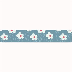 Cloudy Sky With Rain And Flowers Small Bar Mats