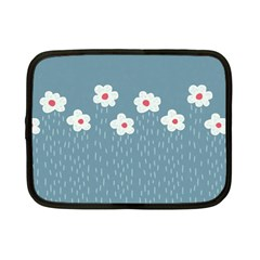 Cloudy Sky With Rain And Flowers Netbook Case (small)