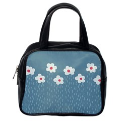 Cloudy Sky With Rain And Flowers Classic Handbags (One Side)