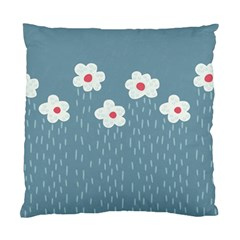 Cloudy Sky With Rain And Flowers Standard Cushion Case (one Side)