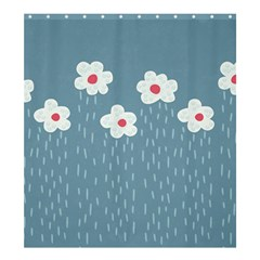 Cloudy Sky With Rain And Flowers Shower Curtain 66  x 72  (Large)