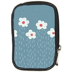 Cloudy Sky With Rain And Flowers Compact Camera Cases