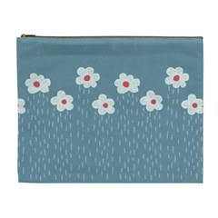 Cloudy Sky With Rain And Flowers Cosmetic Bag (XL)