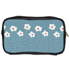 Cloudy Sky With Rain And Flowers Toiletries Bags