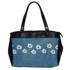Cloudy Sky With Rain And Flowers Office Handbags