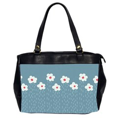 Cloudy Sky With Rain And Flowers Office Handbags (2 Sides)