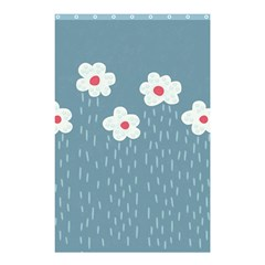 Cloudy Sky With Rain And Flowers Shower Curtain 48  x 72  (Small)