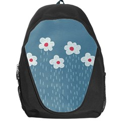 Cloudy Sky With Rain And Flowers Backpack Bag